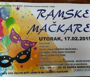 Poziv na tradicionalnu manifestaciju >>Ramske mačkare<<