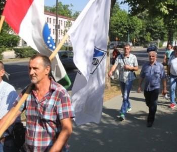 Oko 2.000 građana prosvjeduje protiv usvajanja zakona o radu