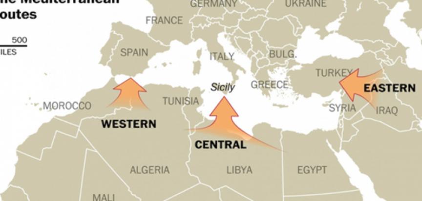 Mapa ilegalnih migracija: Balkanska ruta jedna od najsigurnijih