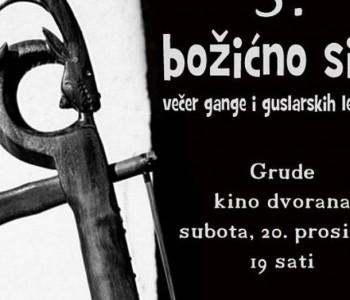 NAJAVA: Guslari iz cijele BiH na trećem Božićnom silu u Grudama