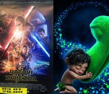 """NAJAVA: Projekcije 3D filma """"Dobri dinosaur"""" i filma """"Ratovi zvijezda-Sila se budi"""""""