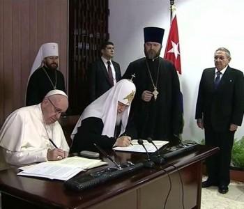 POVIJESNI ZAGRLJAJ 'Jedinstvo je na dobrom putu. Dvije Crkve mogu surađivati'