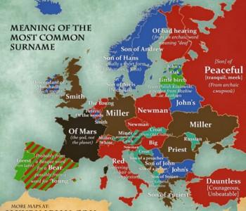 Karta najčešćih prezimena u Europi – Znate li kako se preziva najviše Hrvata?