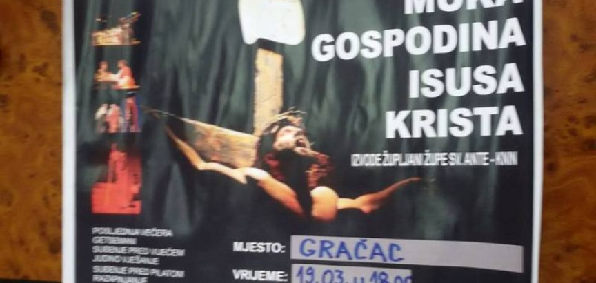 """NAJAVA: """"Muka Gospodina našega Isusa Krista"""" u župi Gračac"""