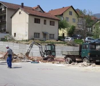FOTO: Nastavak radova u gradu Prozoru