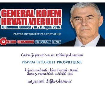 General Željko Glasnović u Rami