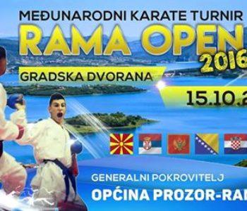 NAJAVA: Međunarodni karate turnir RAMA OPEN 2016.