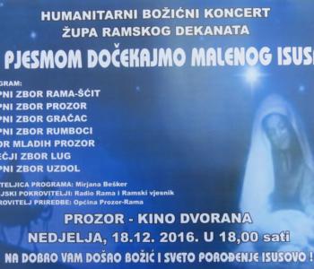 NAJAVA: Humanitarni Božićni koncert ramskih župa