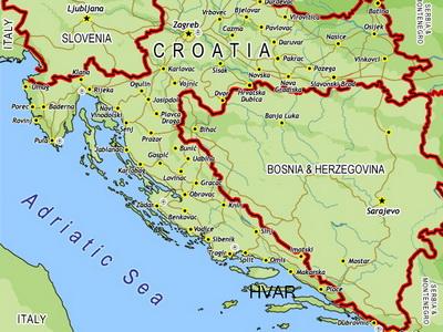 Karta Bosna Hrvatska Karta