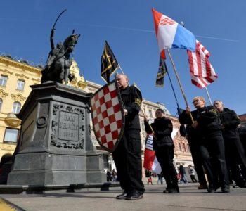Marširali Zagrebom i prisegnuli na vjernost domovini i Trumpu!