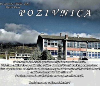 U četvrtak, 2. ožujka Dan škole fra Jeronima Vladića Ripci