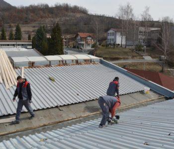 Radovi na izmjeni krova zgrade za nova radna mjesta