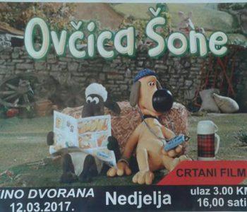 """KINO PROJEKCIJA: """"Ovčica Šone"""" – crtani film"""
