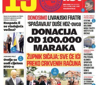 """Epilog """"Livanjskog slučaja"""" donosi Dnevni list"""