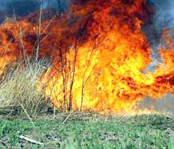 Upozorenje iz DVD-a Prozor – Rama na opasnost od požara zbog paljenja vatre na otvorenom