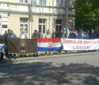 Prosvjedi branitelja u Ljubuškom, čekali Čovića
