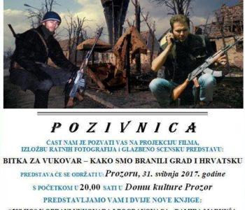 NAJAVA: Braniteljska predstava o obrani Vukovara u Prozoru