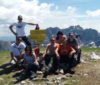Ramsko-Imotsko-Zagrebačka ekipa na planinskim visovima