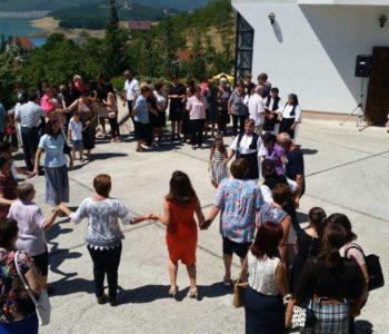 Foto: Vanjska proslava Svete Ane u filijali Podbor-Ploča