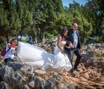 Nadia i Massimo u vjenčanom ruhu zasjali na međugorskim stazama