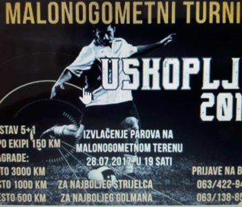 """NAJAVA: 21. Malonogometni turnir """"USKOPLJE 2017."""""""