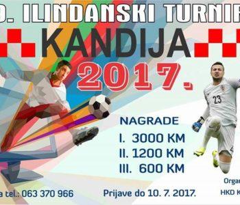 """Najava: 9. Ilindanski turnir """"Kandija 2017."""""""