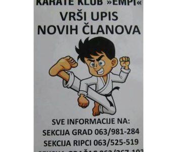 Upis novih članova u Karate klub Empi