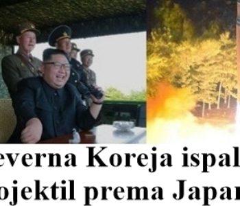 Sjeverna Koreja ispalila projektil na Japan