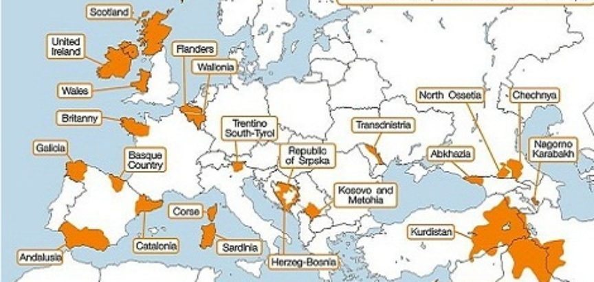 """A """"VRIJE"""" I U BiH Novo povlačenje granica u Europi? Evo koje regije teže neovisnosti"""