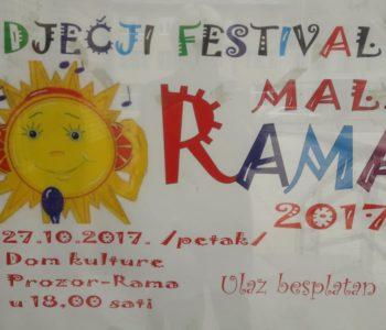 """NAJAVA: Dječji festival """"MALA RAMA 2017."""""""