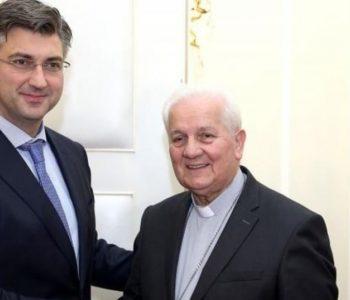 Premijer Plenković s biskupom Komaricom o položaju Hrvata u BiH