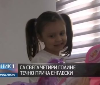 Četverogodišnja Mia govori engleski kao materinji jezik