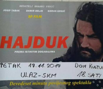 "Premijera filma ""Hajduk Mijat Tomić"" u Prozoru"
