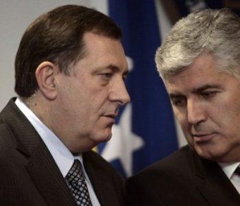 DRUŽBA I SLUŽBA Dodik protiv presude 'Sejdić-Finci', protiv trase puta, protiv NATO-a; Čović se u potpunosti slaže i nije imao što dodati