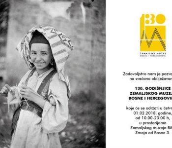 Obilježavanje 130. godišnjice Zemaljskog muzeja BiH 1. veljače