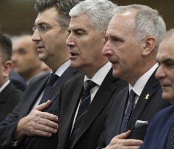 BEZ KOMŠIĆA NEMA NI JEDINSTVA Plenković je iz Splita pozvao da Hrvati glasuju za HDZ, a Čović je rekao da će sve biti riješeno za godinu-dvije
