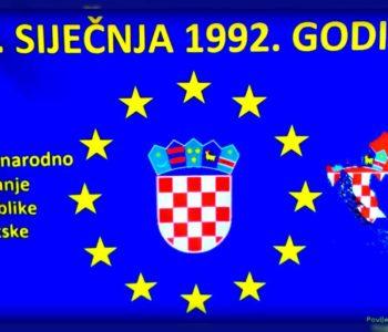 Hrvatska obilježava obljetnicu međunarodnog priznanja kao i mirnu reintegraciju hrvatskog Podunavlja