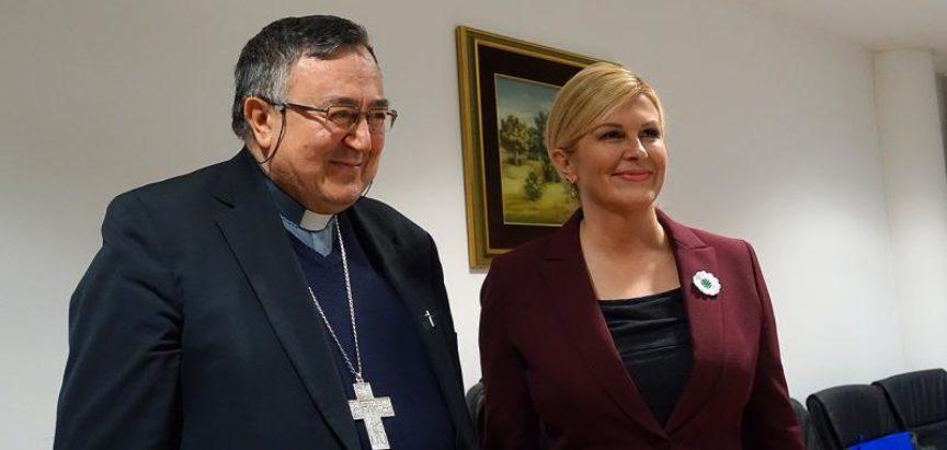 Kardinal Puljić razgovarao s Grabar-Kitarović: Politika je kriva što nam ljudi odlaze