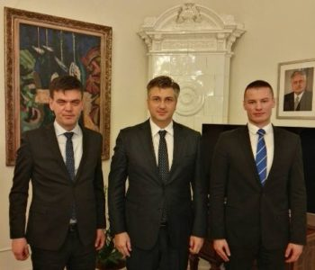 Predsjednik Cvitanović susreo se s premijerom Vlade RH Plenkovićem