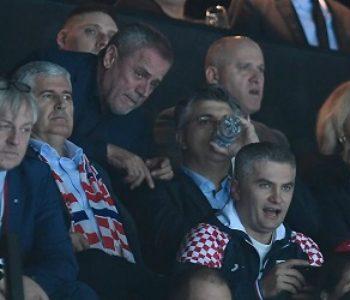 SVI SU NAVIJALI ZA HRVATSKU Čović sa suprugom na utakmici Hrvatska-Srbija