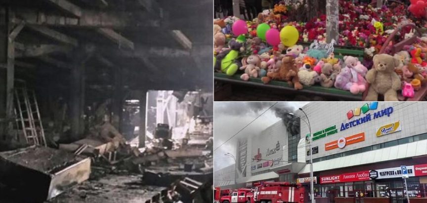 Tragični požar u ruskom trgovačkom centru