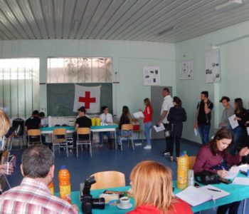 Foto: Akcija darivanja krvi u Srednjoj školi Prozor gdje je prikupljeno 45 doza
