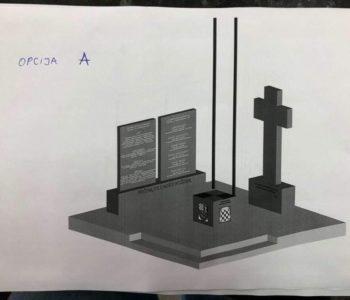 U dvorištu crkve na Lugu započinje izgradnja spomenika poginulim u ratovima