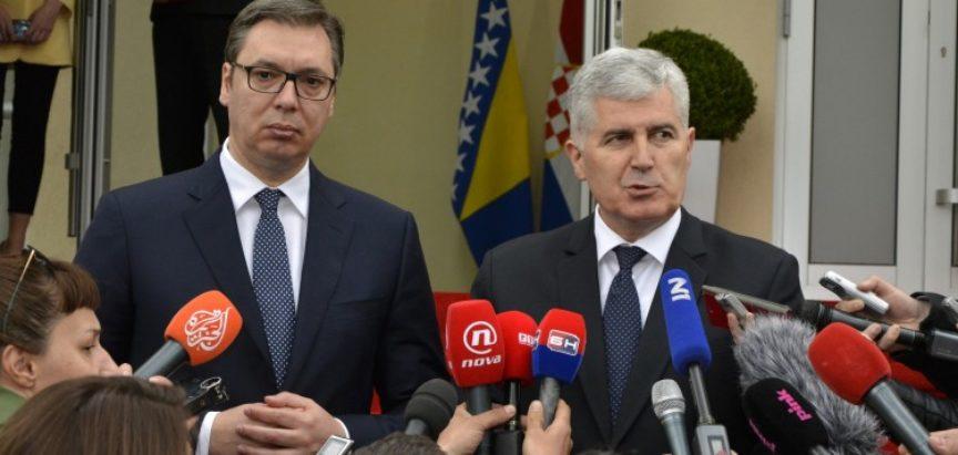 Vučić i Čović ukazali na odličnu ekonomsku suradnju između BiH i Srbije