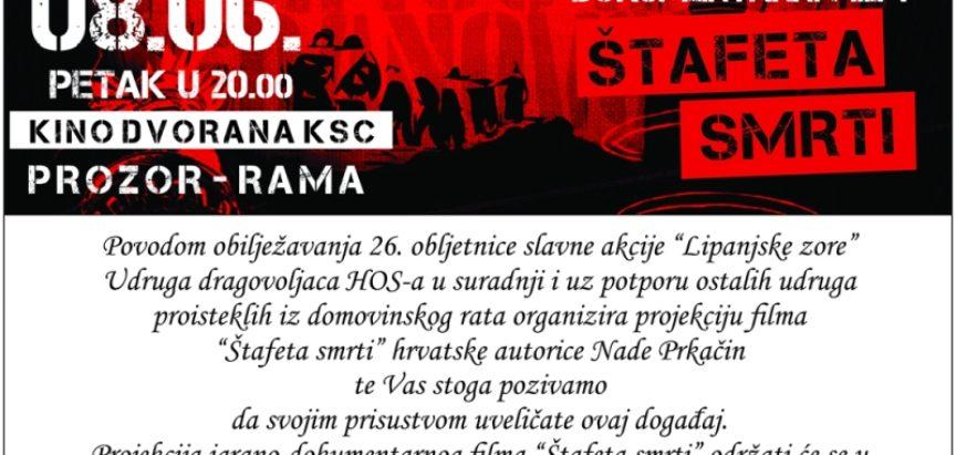 """Najava: Promocija dokumentarog filma """"Štafeta smrti"""" u Prozoru"""