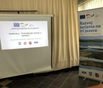 """U okviru projekta """"Razvoj turizma na tri 3 jezera"""" održana radionica """"Poboljšanje usluga u turizmu"""""""