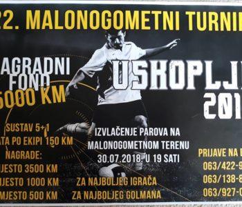 Najava: Počele prijave za 22. malonogometni turnir Uskoplje 2018