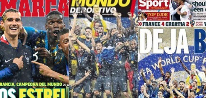 STRANI MEDIJI ODUŠEVLJENI VATRENIMA 'Najpogrešniji ishod finala Svjetskog prvenstva u povijesti'