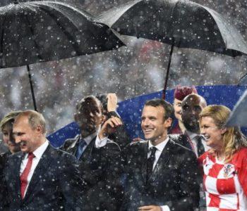 RIJEŠEN MISTERIJ: Ruske službe objasnile zašto su Kolinda i Macron pokisli, dok je Putin nad glavom imao kišobran