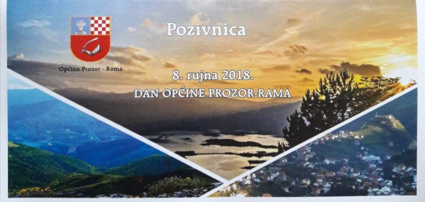 Program obilježavanja Dana općine Prozor-Rama, 8. rujna 2018.g.